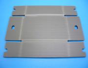 Plastic corrugated cardboard
